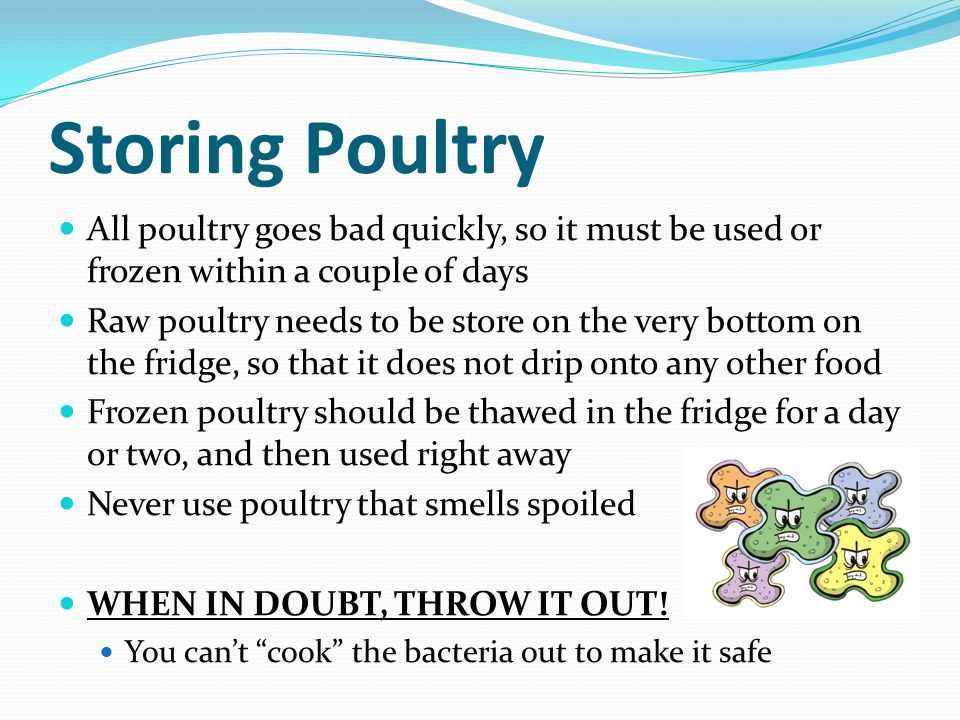 Meats poultry fish and shellfish ppt download for Does frozen fish go bad