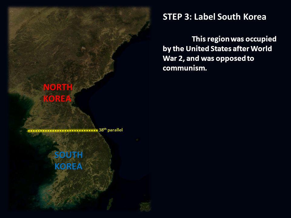 Korean war map activity ppt video online download step 3 label south korea gumiabroncs Images