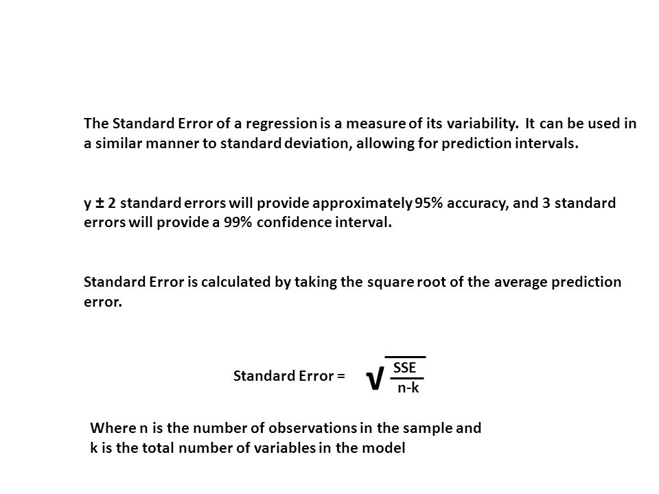 Standard Error of Regression