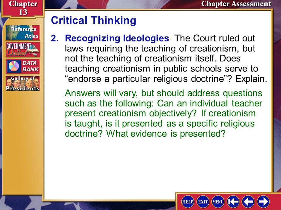 Should Creationism Be Taught In Public Schools?