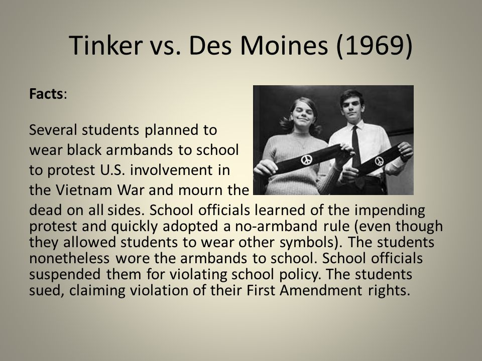 Tinker vs des moines - Custom paper Example