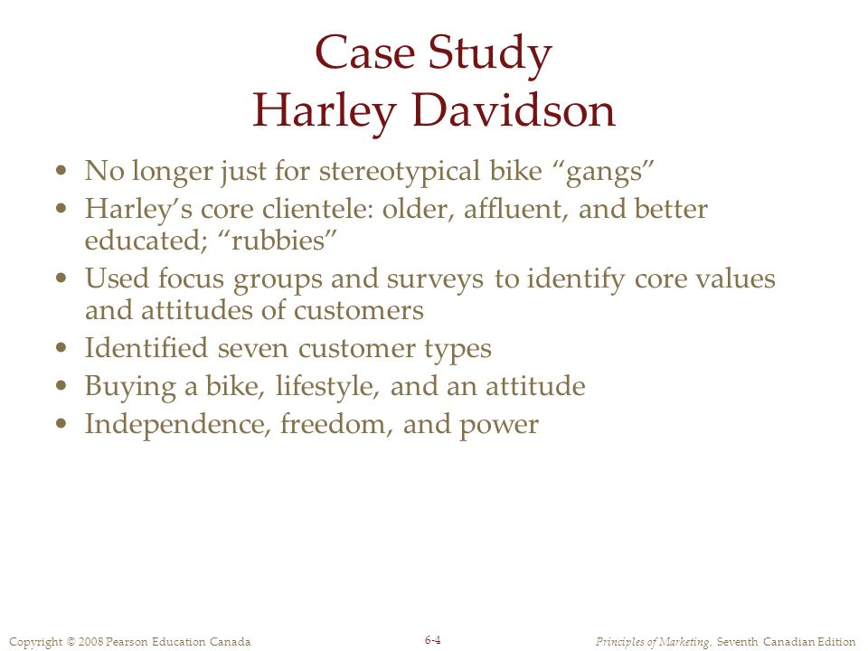 harley davidson case study answers