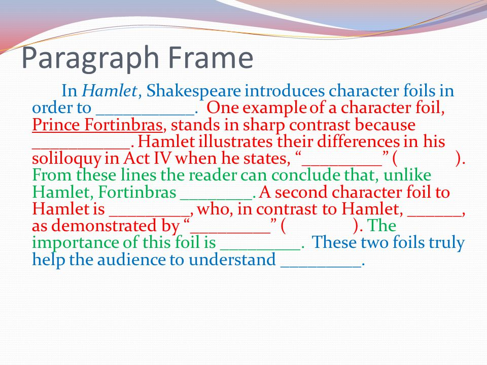 macbeth character foil essay Essay macbeth: character analysis of macbeth macbeth was a true  characters  have foils, scenes and ideas contrast each other, sometimes within the same.