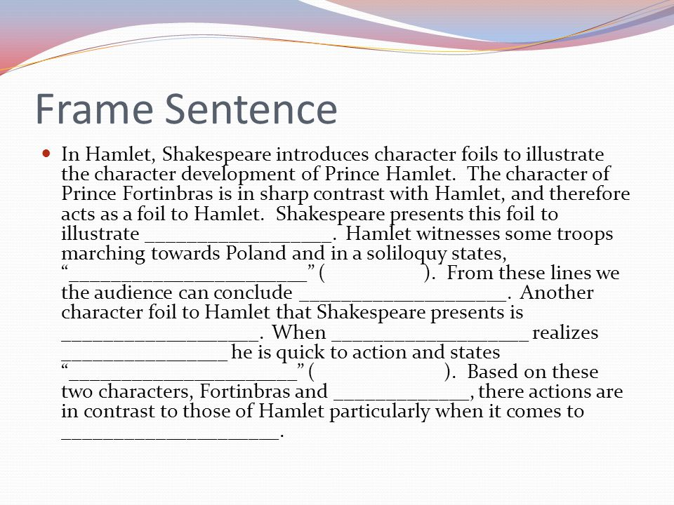 hamlet character essay The frontages that each character assumes are all indispensable to the intricate misrepresentation and insanity that is invariably present in hamlet.