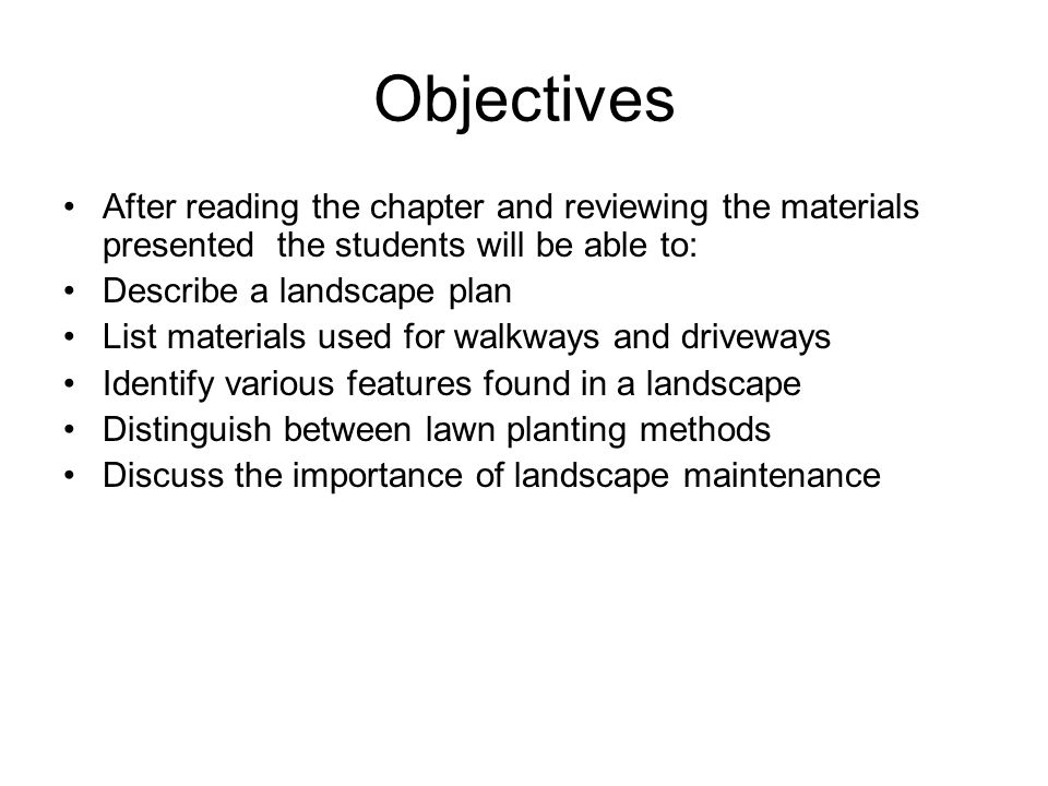 Chapter 29 Landscaping Ppt Download
