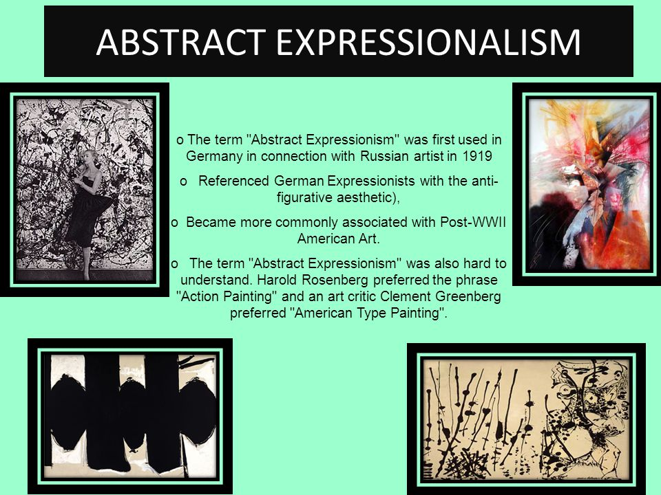 Clement greenberg essay abstract expressionism