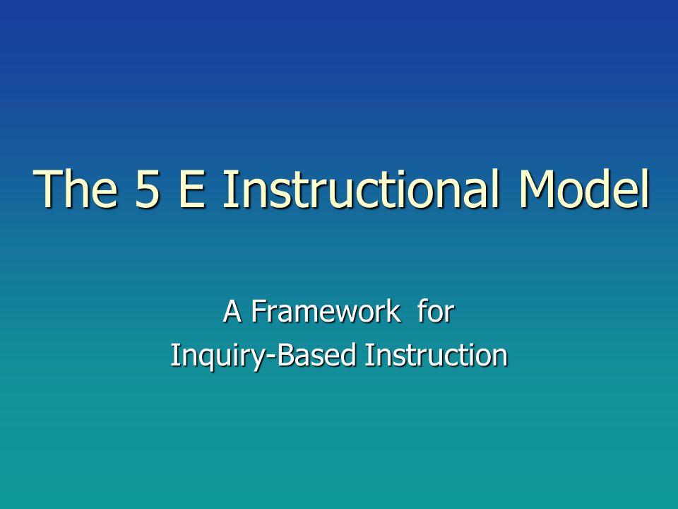 The 5 E Instructional Model