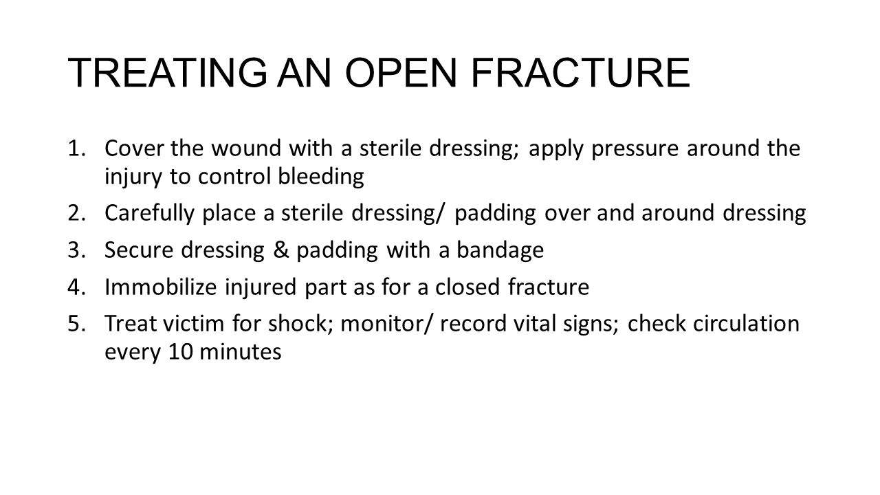 Bone joint muscle injuries ppt video online download 22 treating an open fracture robcynllc Choice Image