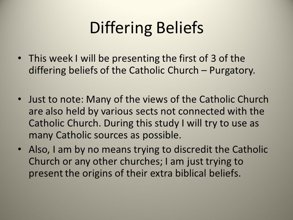 an analysis of the beliefs of the catholic church Such an interpretation may be more persuasive in getting catholic education   the 'power of the church (religion)' over individuals, usually in.