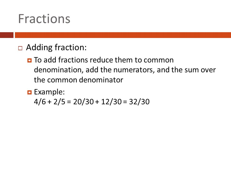 write each improper fraction as a mixed number Addition: mixed numbers a mixed number is a number expressed as the sum of a whole number and a fraction , such as 3 1 4 we can write mixed numbers as improper fractions before adding or subtracting.