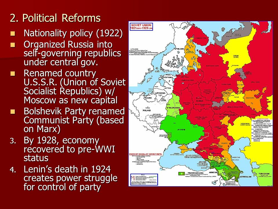Bolshevik Consolidation of Power 19-17-1924