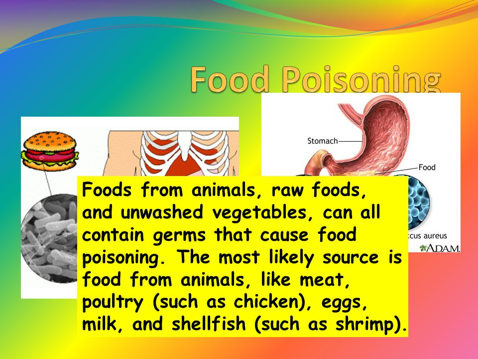 Food Poisoning Foods From Animals Raw Foods And Unwashed
