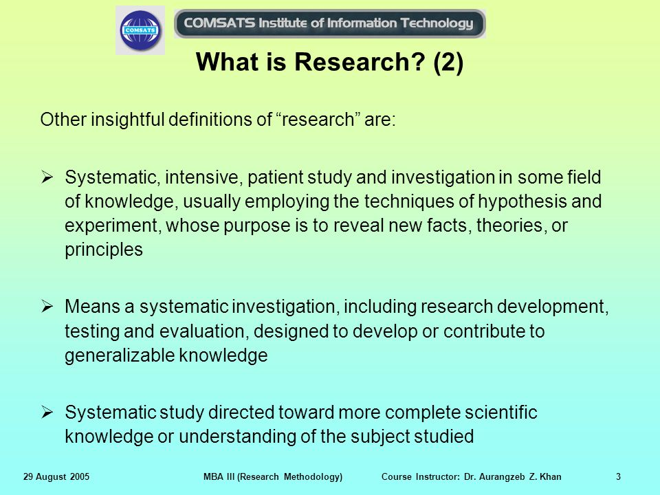 what is business research method
