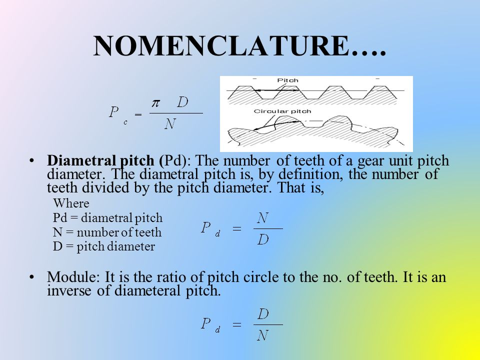 how to find pitch circle diameter of gear
