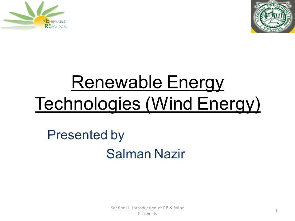 Renewable Energy Technologies Wind Energy Ppt Video