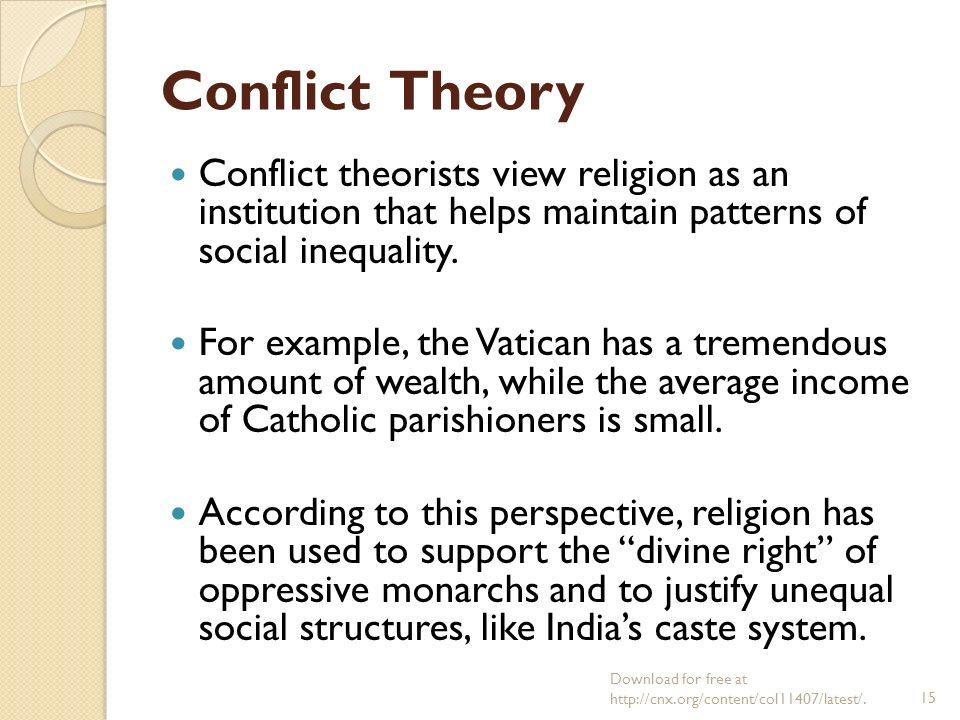 use of the conflict theory