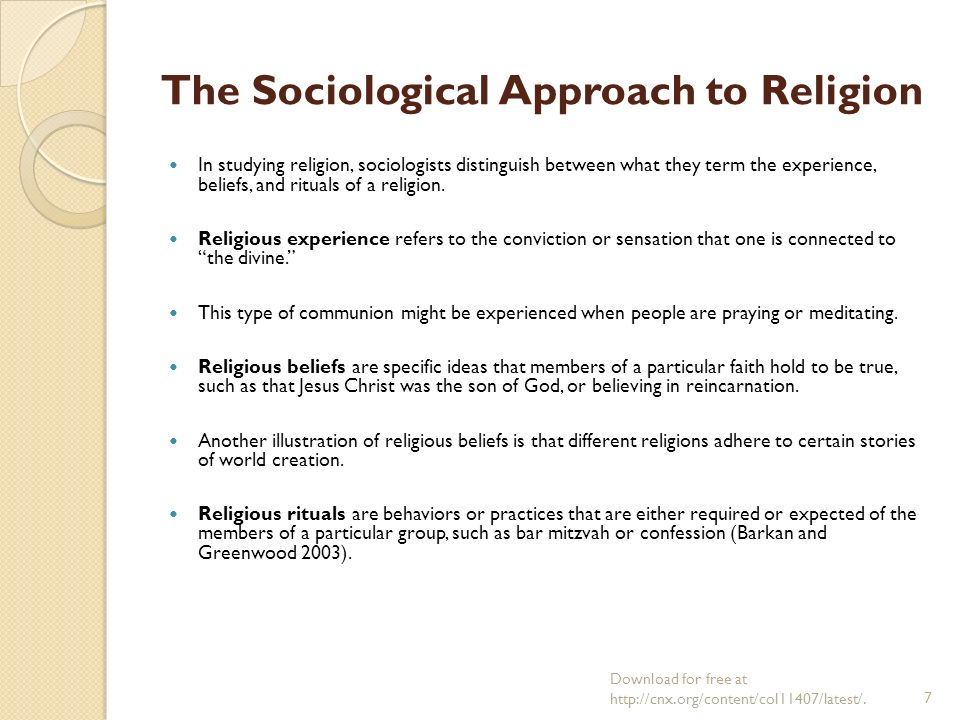 sociology of religion approaches to secularization For the last few decades, sociological debates about religion and  meanwhile,  critical approaches in the study of secularism that follow.