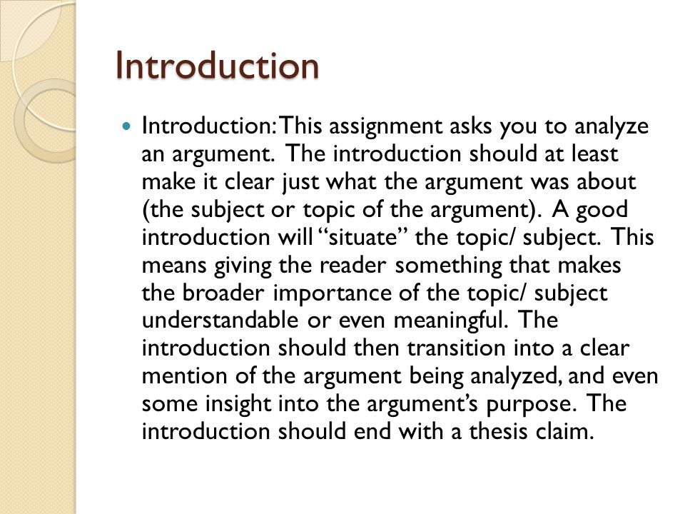 analysis of an argument essay gre