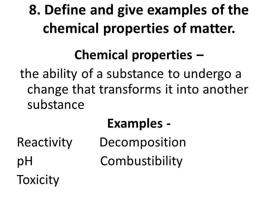 1 What Are Two Properties Used To Describe Matter Ppt Video