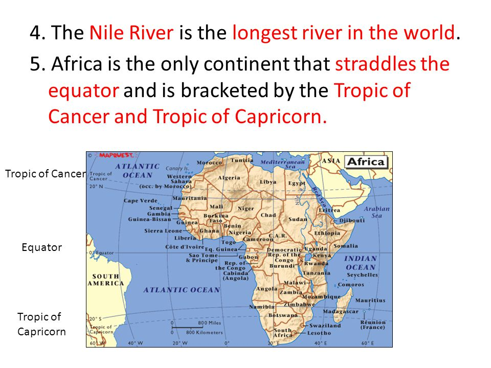 Regions Of The World Africa Ppt Video Online Download - 4 longest rivers in the world