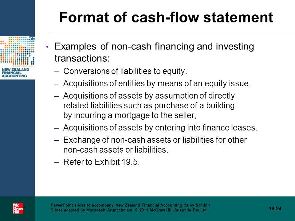 cash flow statements examples