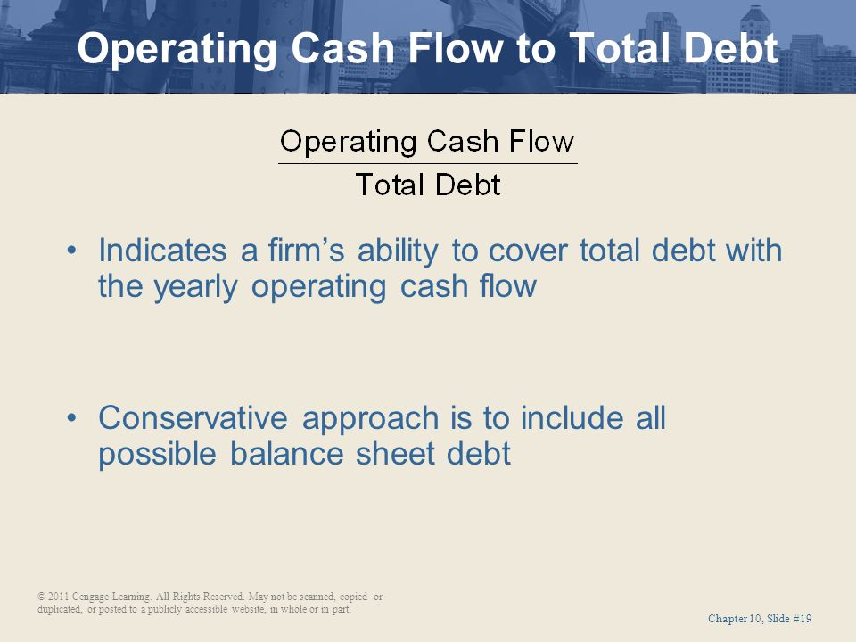 One thing that you will notice is there are lots of ratios based on what is  known as free cash flow. I'll explain more about this shortly but in simple  ...