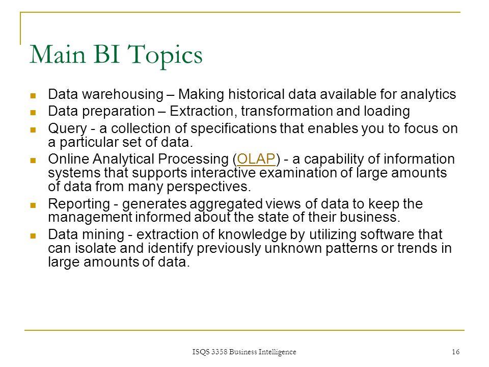 intelligence creation and use and bi governance pdf