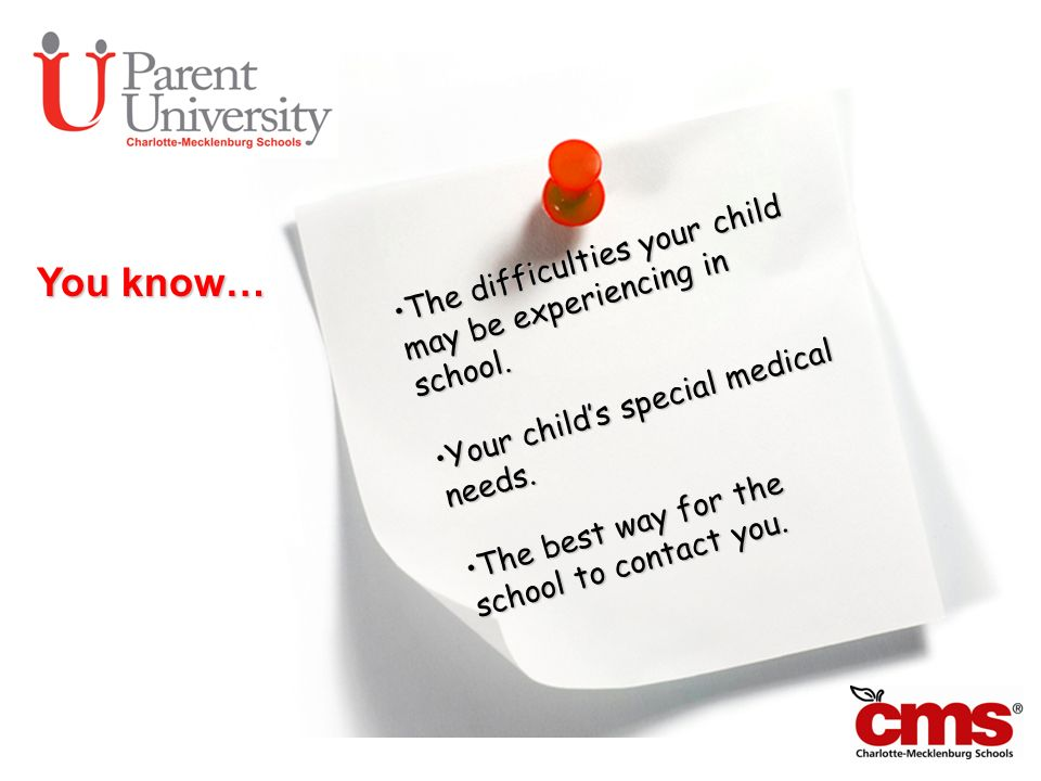 You know… The difficulties your child may be experiencing in school.