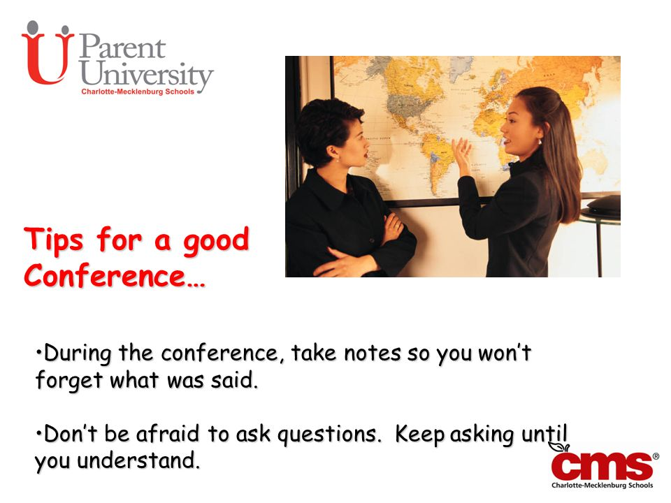 Tips for a good Conference…