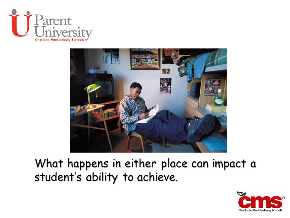 Can We Talk What happens in either place can impact a student's ability to achieve.