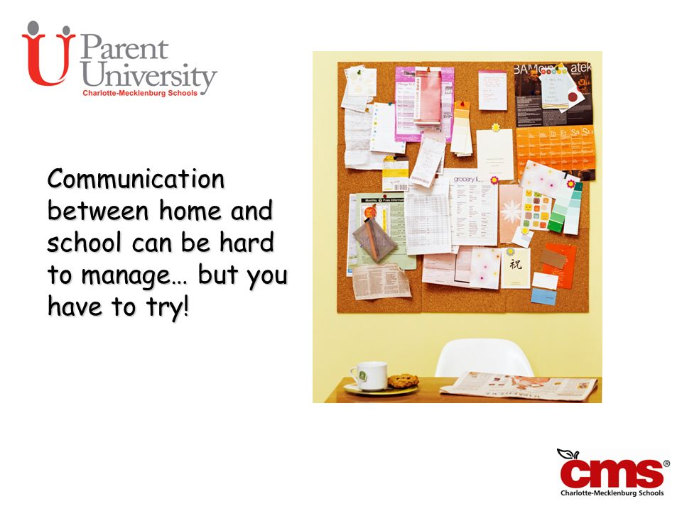Can We Talk Communication between home and school can be hard to manage… but you have to try!