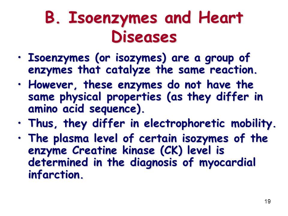 B. Isoenzymes and Heart Diseases