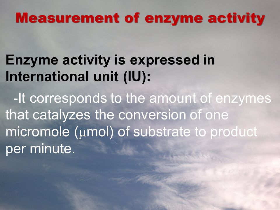 Measurement of enzyme activity
