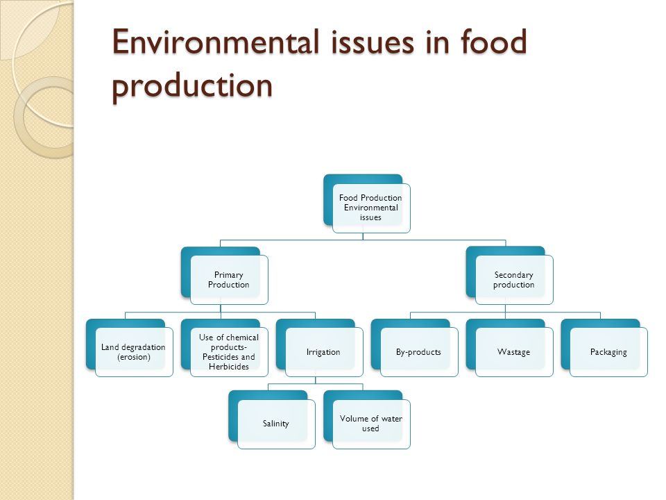 Environmental issues in food production