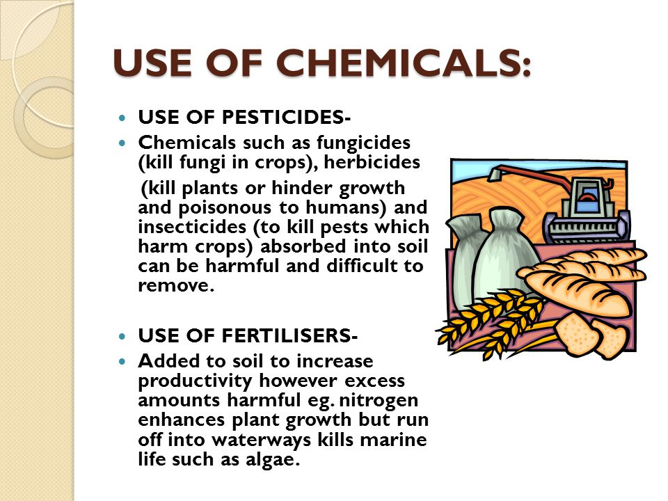 USE OF CHEMICALS: USE OF PESTICIDES-