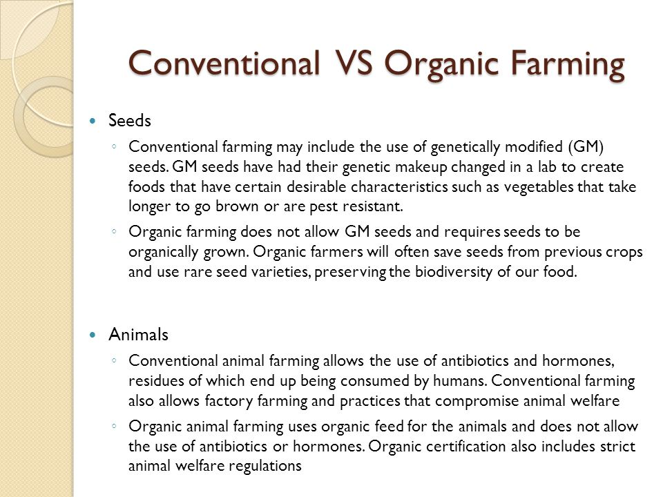 Conventional VS Organic Farming