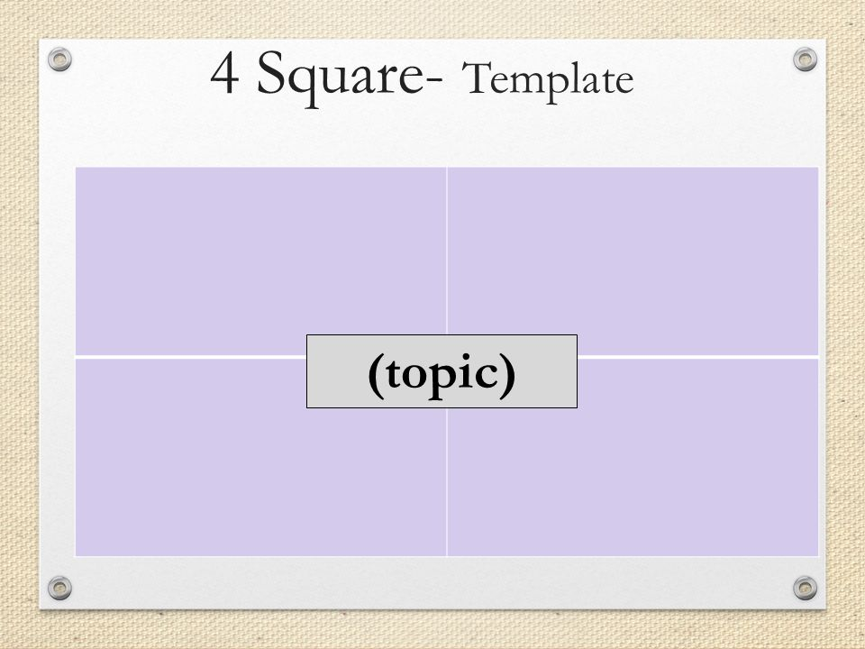 4 square graphic organizers for language learning ppt download