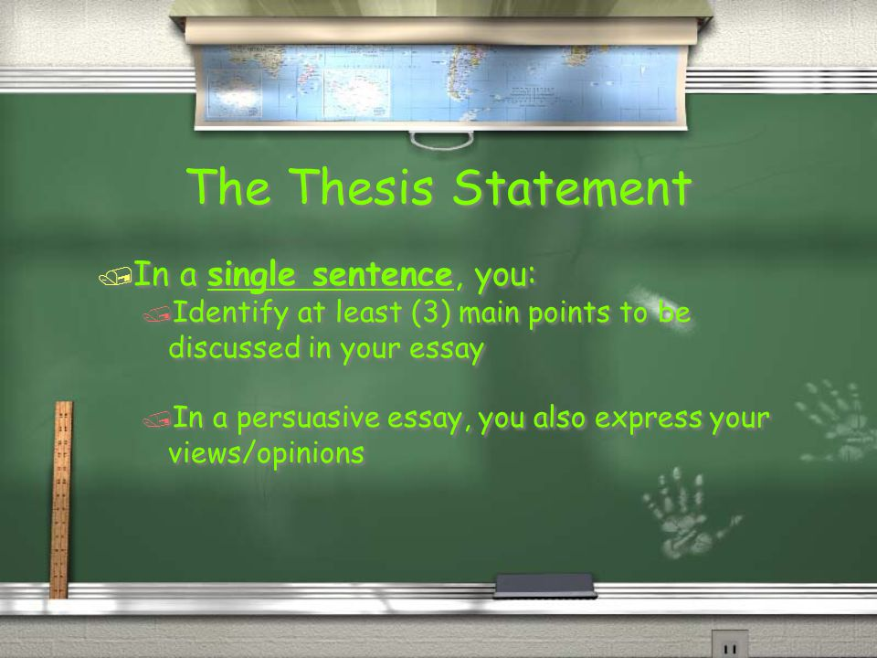 identify the thesis statement Identify a topic your topic is the subject about which you will write developing a thesis statement--additional information.