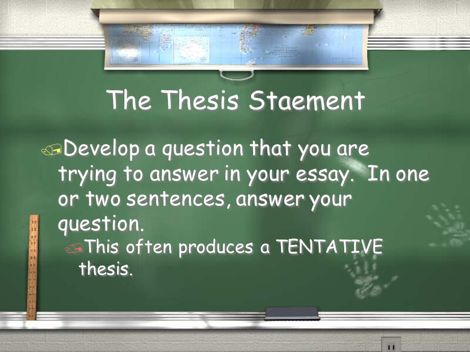 thesis staement This point, the controlling idea, becomes the core of your argument (thesis  statement) and it is the unifying idea to which you will relate all your sub-theses.