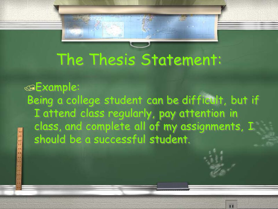 thesis statement on becoming successful