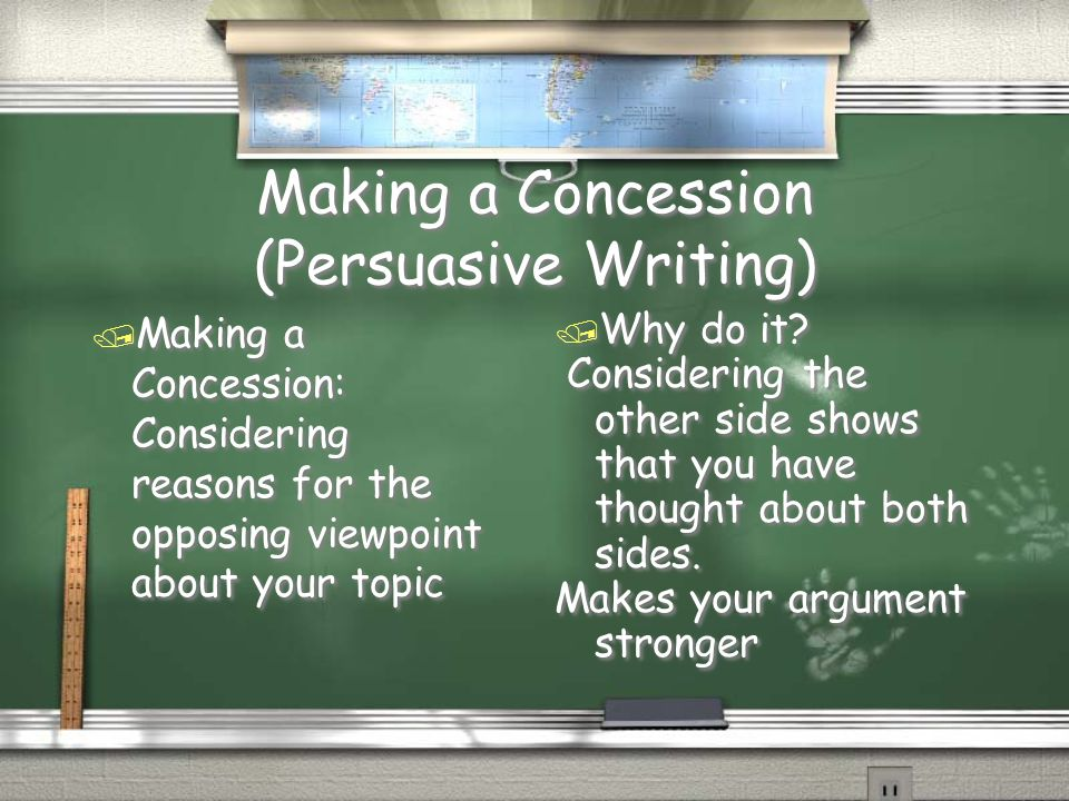How to use concession in your argument essay