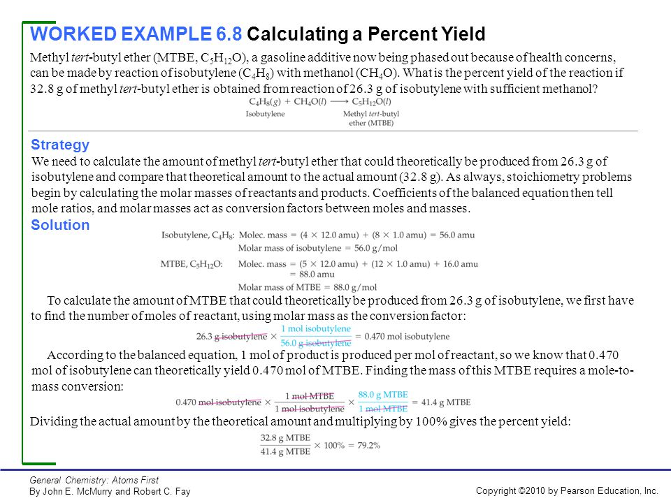 Modeling chemistry stoichiometry worksheet 2 percent yield answers