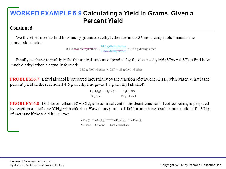how to find the theoretical yield in grams