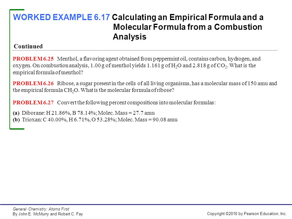 WORKED EXAMPLE 61 Balancing a Chemical Equation ppt video – Combustion Analysis Worksheet