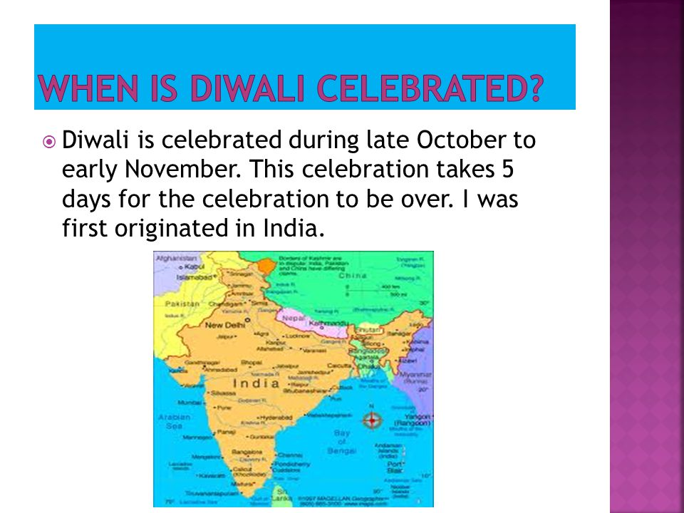WHEN IS DIWALI CELEBRATED