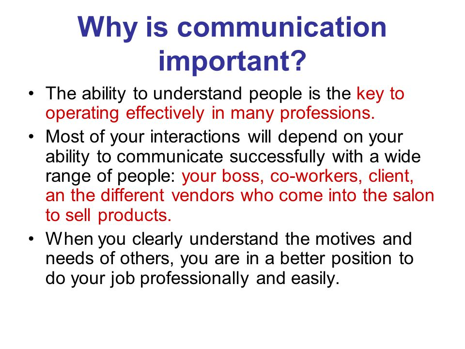 1 understand why communication is important 1 effective communication between management & employees 2 manager's   understand his role, and why his particular task is so important.