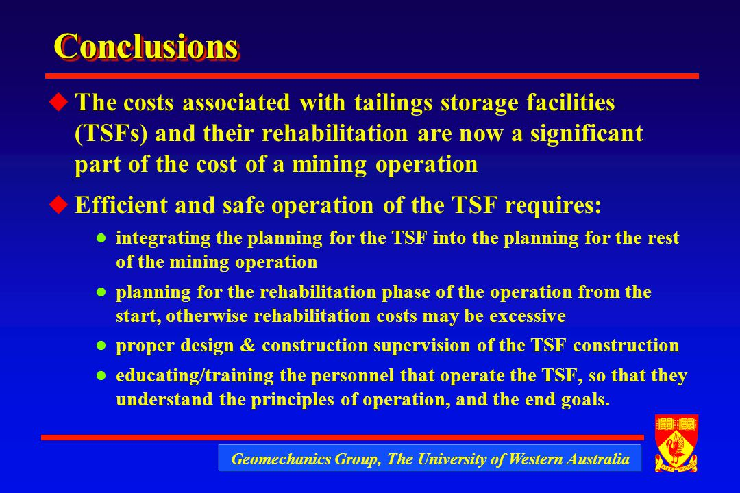Aspects Of The Geotechnics Of Mining Wastes And Tailings Dams Ppt Video Online Download