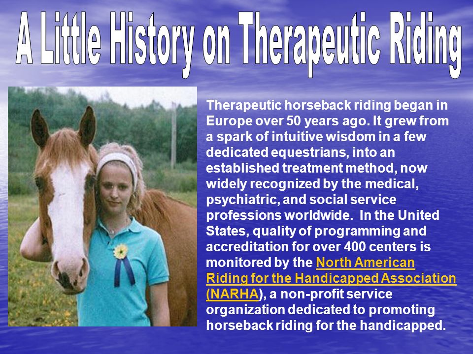A Little History on Therapeutic Riding