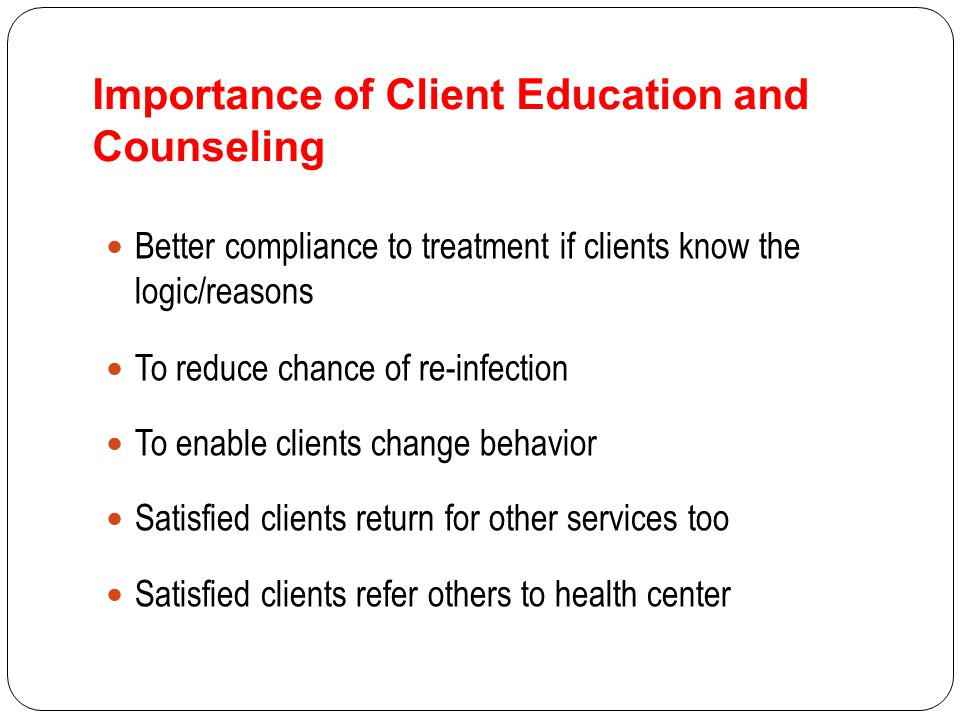 counselling learning and client Does counseling even work for people with disabilities most of my counseling clients have worked with other counselors in the past they will tell me that they liked their former counselors, and that they liked having someone to talk to about their problems.