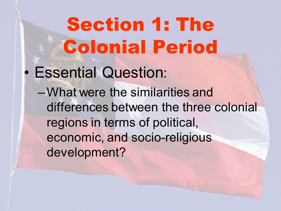 differences between colonial regions essay Differences between the new england, middle n than the other two colonial regions because the new england, middle n southern colonies.
